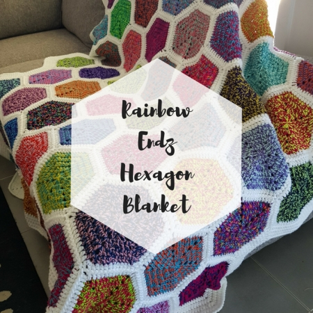 Colourful Rainbow Hexagon Blanket
