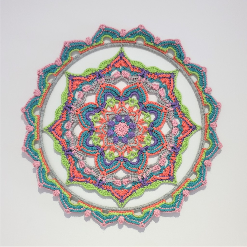 Connies Ray of Hope Mandala by The Loopy Stitch