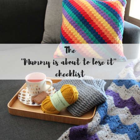 Crochet, cup of tea and a comfortable couch