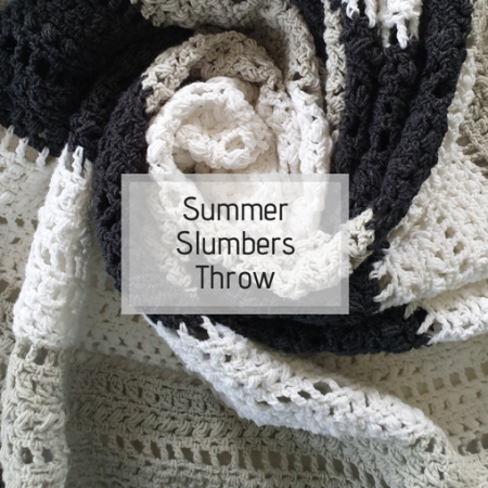 Free summery crochet throw pattern