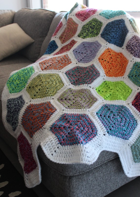 Rainbow Endz Hexagon Blanket by Kate Made It