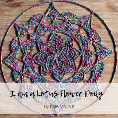 I am a lotus flower crochet doily